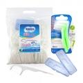 奈森克林細滑牙線棒1000支家庭包+L型牙間刷5支+隨身攜帶盒2個/好市多牙線棒/3M牙線棒