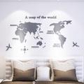 S-世界地圖 3D立體壓克力壁貼 辦公室/客廳/ 壓克力貼紙裝飾 電視牆 3d 立體 水晶 壓克力 壁貼 兒童房 幼兒園