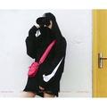 NIKE BIG SWOOSH 黑/白 薄款防曬衣 男女款 連帽衝鋒衣 防風衣外套 AA5010-010-100