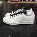 adidas STAN SMITH 白色 全白 黑色 白黑 皮革 圓鞋帶 薄鞋舌 復古 S80019