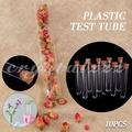 👉 現貨🔥10PCS 塑膠試管 配帶木塞 硬質PS 15x100mm/15x150mm 塑膠試管 透明試管 塑膠製品