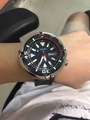 Sample Pics of Customer's Seiko SRPA83K1 Padi 200m Diver On our Stainless Steel Shroud and Grey Canvas Strap
