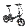 FIIDO D3 36V 7.8Ah 250W 14 Inches Folding Moped Bicycle 25km/h Max 50KM Mileage Mini Electric Bike