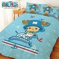 【嫁妝寢具】水手喬巴*藍色*-雙人床包組【床包+枕套*2】5*6.2 台灣製造