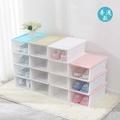 滑蓋式堆疊鞋盒塑料男女加厚收納透明防塵鞋盒宿舍整理
