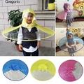 【新品】日韓防雨神器兒童創意雨帽 飛碟傘無柄雨帽子雨衣 雨披 釣魚傘