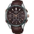 【SEIKO】SAGA219J 8B92-0AP0J 精工 太陽能電波腕錶 皮帶/咖啡 43mm 台南 時代鐘錶