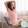 華歌爾睡衣-舒爽冰涼M-L圓領短袖家居褲裝(綠)緹織涼感紗