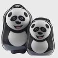 【英國Cuties and Pals】蛋型輕硬殼兒童專屬旅行箱+背包 2件組熊貓