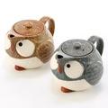 日本製貓頭鷹陶壺