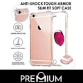 Anti-Shock Tough Armor Slim Soft Case For OPPO R9S - Clear