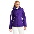 美國百分百【全新真品】Columbia 外套 夾克 連帽外套 哥倫比亞 紫色 兩件式 防水 透氣 女款 M號 E357