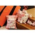 現貨+預購 一大袋娃娃 一大袋零食抱枕 絨毛玩具布娃娃 小恐龍/獨角獸/櫻花小兔子/小雞布丁 公仔 玩偶 暖手抱枕