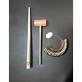 (現貨)【金工】金屬戒圍棒 指圍棒 +金屬戒圈 +小膠鎚 膠槌