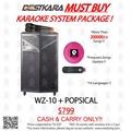BESTKARA MUST BUY KARAOKE SYSTEM PACKAGE WZ-10 + POPSICAL