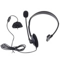 XBOX 360 Black Headphone Wired Premium Microphone Headset