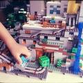 相容樂高21137我的世界山洞拼裝房子樂拼積木礦井村莊凋零末影龍