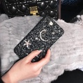 For Oppo R11s Plus Mobile Phone Cases Women Girls' Glitter Hard Cases For Oppo R11s Plus Bling Diamond Stars Moon PC Back Covers