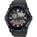 CASIO卡西歐 世界時間地圖手錶-墨綠
