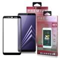 XM  三星 Galaxy A8+ 2018版 超透滿版 2.5D 鋼化玻璃貼-黑