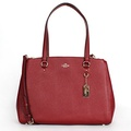 Coach 36878 Crossgrain Leather Stanton Carryall Shoulder Bag Black Cherry