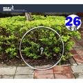 【飛輪單車】 SHINING B1585 26吋登山車快拆式後輪輪組 ROTAZ培林花鼓卡式碟煞[05201585]