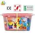 【Playful Toys 頑玩具】120PCS積木桶2030(樂高相容 親子互動 兒童玩具 早教益智 桶裝積木 大顆粒積木 台灣製造 積木 大顆粒積木)