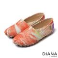 DIANA 超厚切冰淇淋款--漸層法式蕾絲布懶人鞋-橘5122-46
