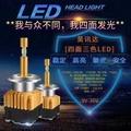 汽機車LED大燈 四面發光LED大燈 LED12V--24V 可調三色溫高亮聚光無損安裝 遠近光改裝LDE燈泡四面光源