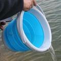 摺疊 水桶 戶外釣魚摺疊桶 打水桶 便攜活魚桶餌料盆戶外洗車 智聯igo