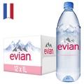 法國evian依雲天然礦泉水(1000mlx12入 寶特瓶)【台灣官方Evian】