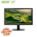 acer KG240  24型 電競電腦螢幕【1920x1080/D-Sub*1、HDMI*2/不閃屏、瀘藍光、喇叭/2W*2、三年保】