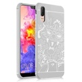 NEW Silicagel Phone Case for Huawei P20 Pro Case TPU +Silicon Case 3D Carved Dragon Phone Case for Huawei P20 Pro Phone Case Silicone