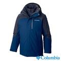 Columbia哥倫比亞-兩件式防水羽絨外套 -男用(藍色/UWM10800BL)