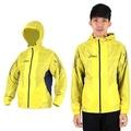 【ASICS】男風衣外套- 連帽外套 路跑 慢跑 亞瑟士 黃黑  100%聚酯纖維