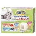 日本嬌聯 Unicharm 消臭大師 抗菌雙層 全罩式貓砂盆  雙層 米白色 貓砂盆 貓砂《XinWei》