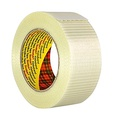 3M Scotch Bi-Directional Filament Tape 8959 – Heavy duty tape with crossweaved fibreglass filaments for heavy-weight packages, 50 mm x 50 m - 1 x roll of transparent adhesive tape
