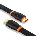 山泽(SAMZHE) HDMI1.4版1080P数字高清线 橙黑15米 扁平线电脑电视机机顶盒投影仪 1m SM-CB10
