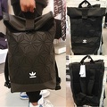 Adidas x Issey miyake 3d Mesh Roll Top backpack men/women shoulder bag Schoolbag
