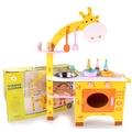 木製 長頸鹿 仿真廚房 幼兒園 迷你廚房 正品 木製廚房 小灶台 仿真烤箱 扮家家酒 仿真玩具