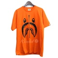 "A BATHING APE'18AW""BICOLOR SHARK TEE""鯊魚T恤柳丁尺寸:L(abeishingueipu) kindal"