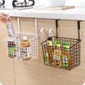 多功能鐵藝掛籃免打孔浴室置物架 廚房儲物架子櫥櫃收納籃 初語生活館