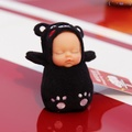 哇哦好康誒(๑′ᴗ‵๑)睡萌娃娃包掛件睡眠娃娃鑰匙扣皮卡丘龍貓公仔毛絨玩具可愛布朗熊
