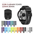 26mm 22mm Watch Strap for Garmin Fenix 5X 3 3HR Silicone Strap with Quick Release Band for Fenix 5 Fenix 5 Plus Forerunner 935