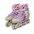 【韓國LANDWAY】專業軟式鞋殼鋁合金底座競速直排輪 溜冰鞋 灰紫粉
