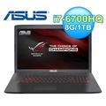 ASUS 華碩GL752VW-0071A 17.3吋 電競筆電 黑