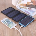 Solar Powerbank Battery 30000mah Waterproof Three Fold Power bank Portable Charger Power Source With