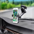4~6吋 6933 伸縮手機車架/儀表板/自動鎖/吸盤式車上固定架/展示手機架/車用支架