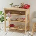 CiS自然行實木家具 電器櫃-碗盤櫃-雜貨櫃-置物櫃W80cm(水洗胡桃色)