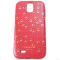 COACH C LOGO Samsung S4 手機保護殼(紅)